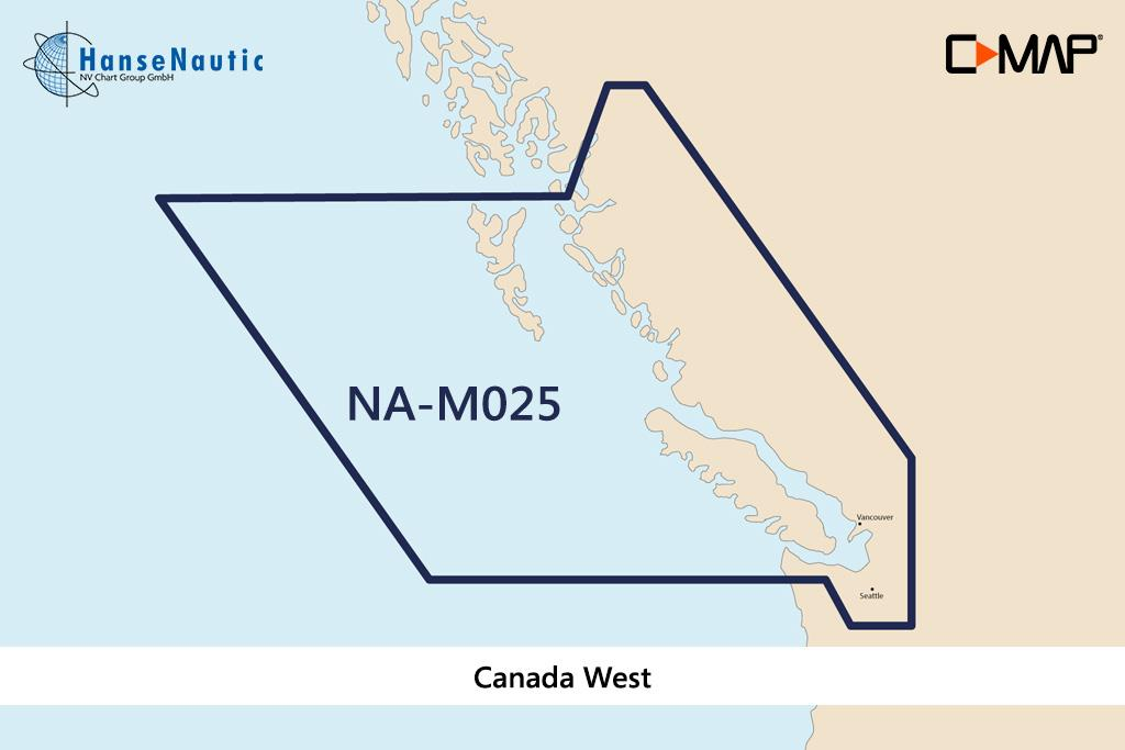 C-MAP MAX Wide NA-M025 Canada West
