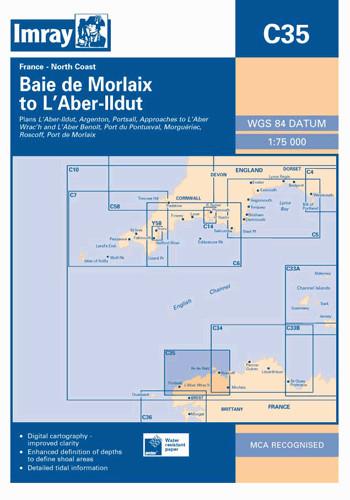 IMRAY CHART C35 Baie de Morlaix to L'Aber-Ildut