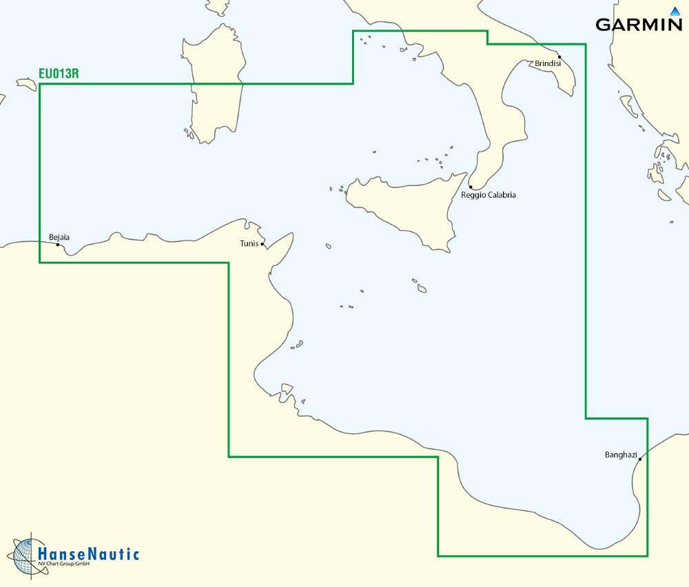 BlueChart Mittelmeer - Tunesien Malta Sizilien (Italy Southwest Tunisia) g3 XEU013R