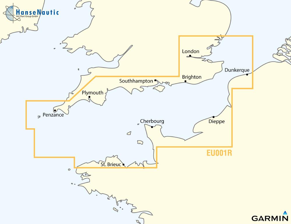 BlueChart Englischer Kanal Nord-Frankreich u. Süd-England g3 XEU001R