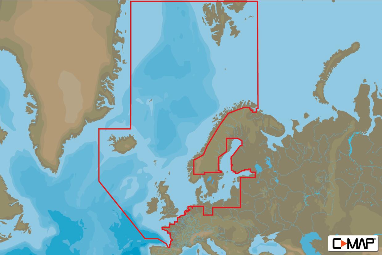 C-MAP 4D MAX EN-D050 Continental Nordeuropa