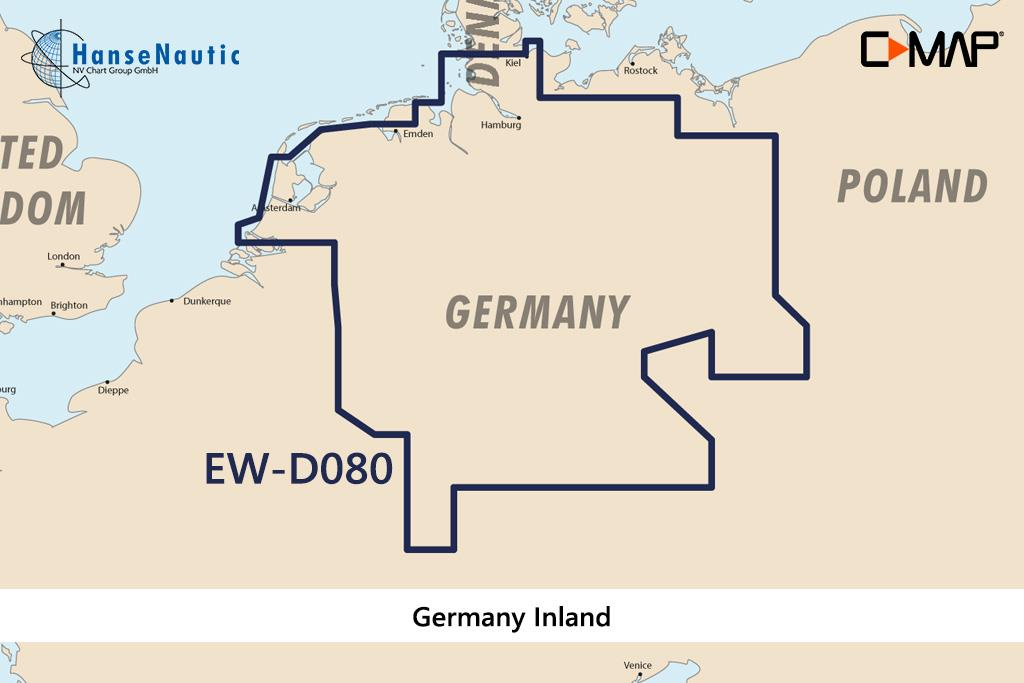 C-MAP 4D MAX+ Wide EN-D080 Germany Inland