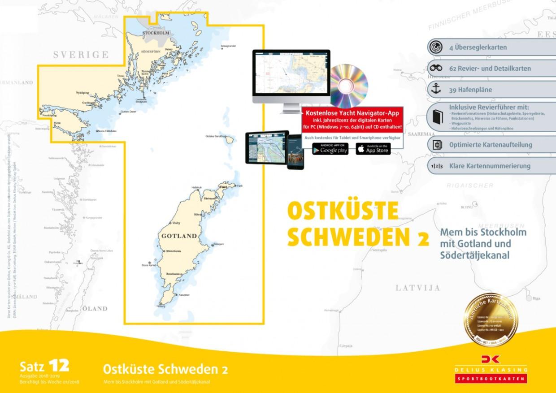 Delius Klasing Sportbootkarten Satz 12: Ostküste Schweden 2