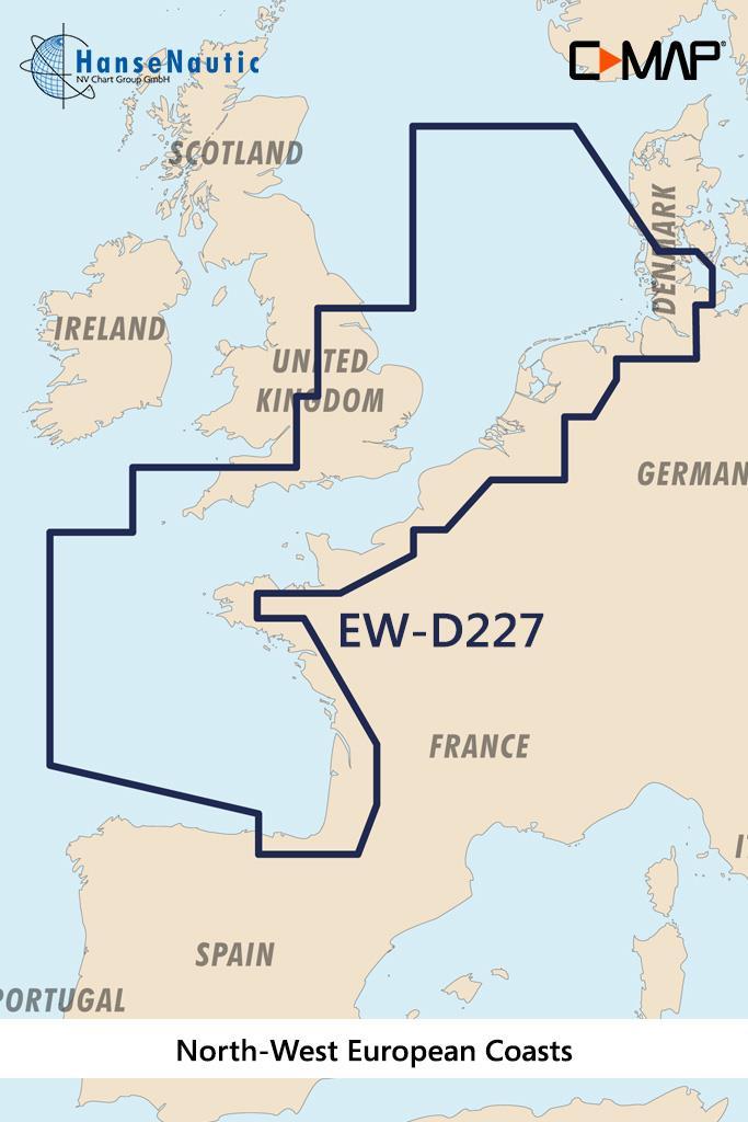 C-MAP 4D MAX+ Wide EW-D227 North-West European Coasts