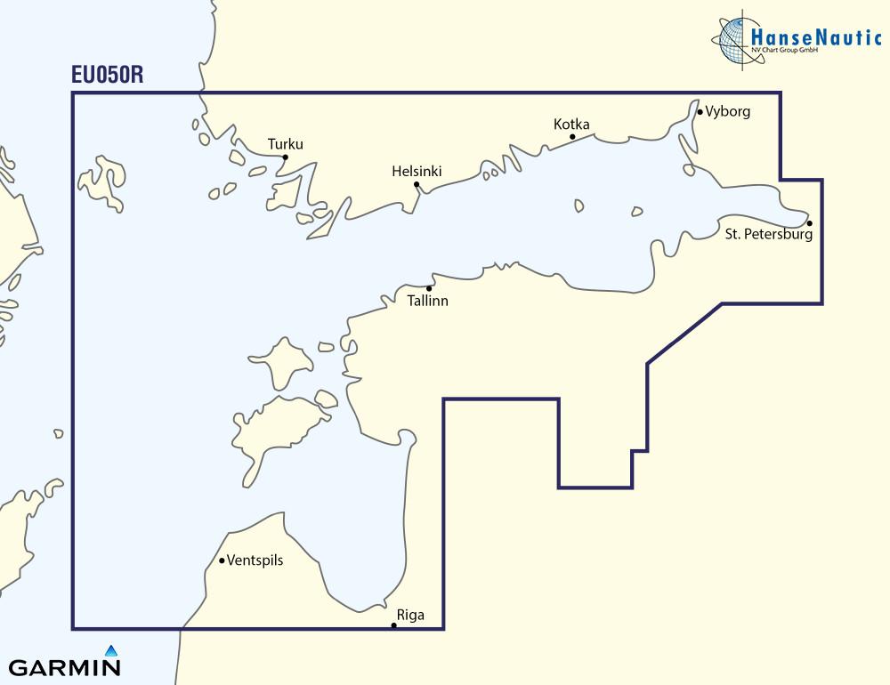 BlueChart Ostsee Finnischer Meerbusen u. Golf von Riga (Gulfs of Finland & Riga) g3 XEU050R
