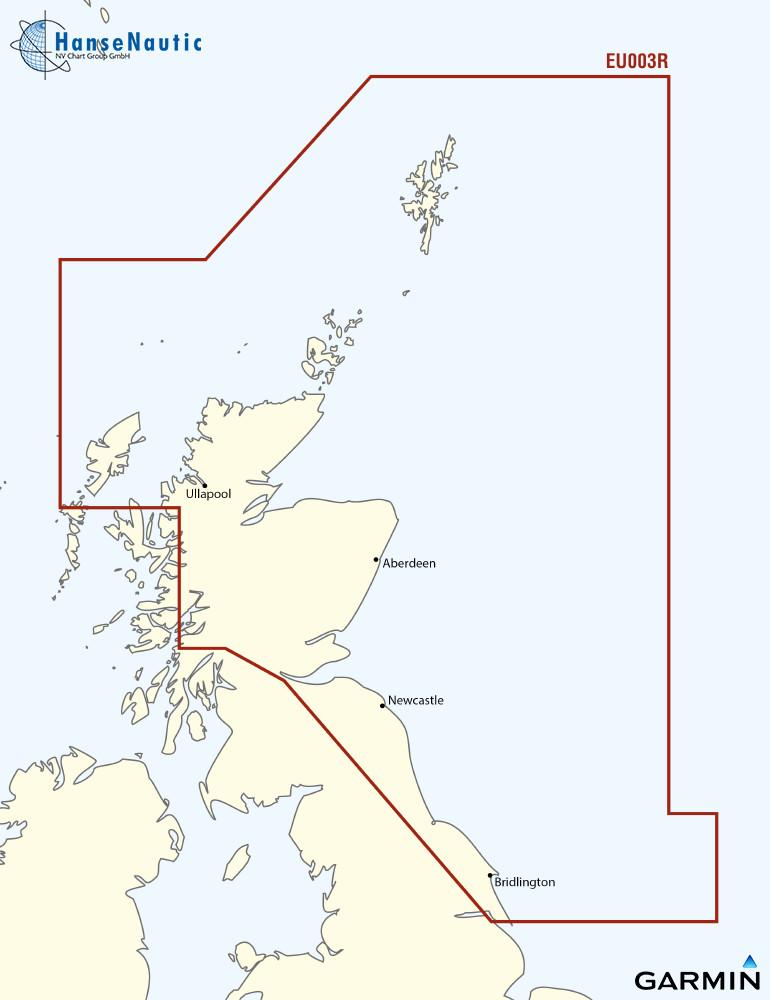 BlueChart Nordsee Schottland - Humber (Great Britain Northeast) g3 XEU003R