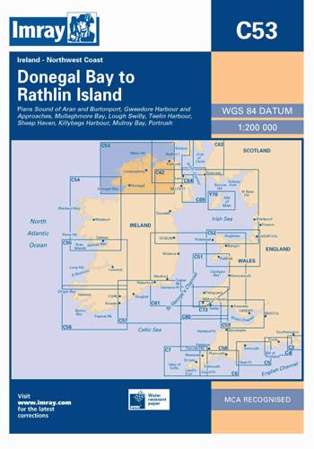 IMRAY CHART C53 Donegal Bay to Rathlin Island