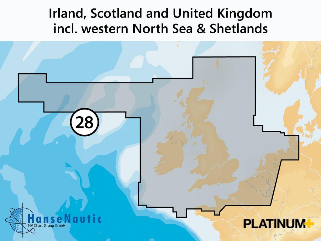 Navionics Platinum+ Irland Schottland Großbritannien (28P+)