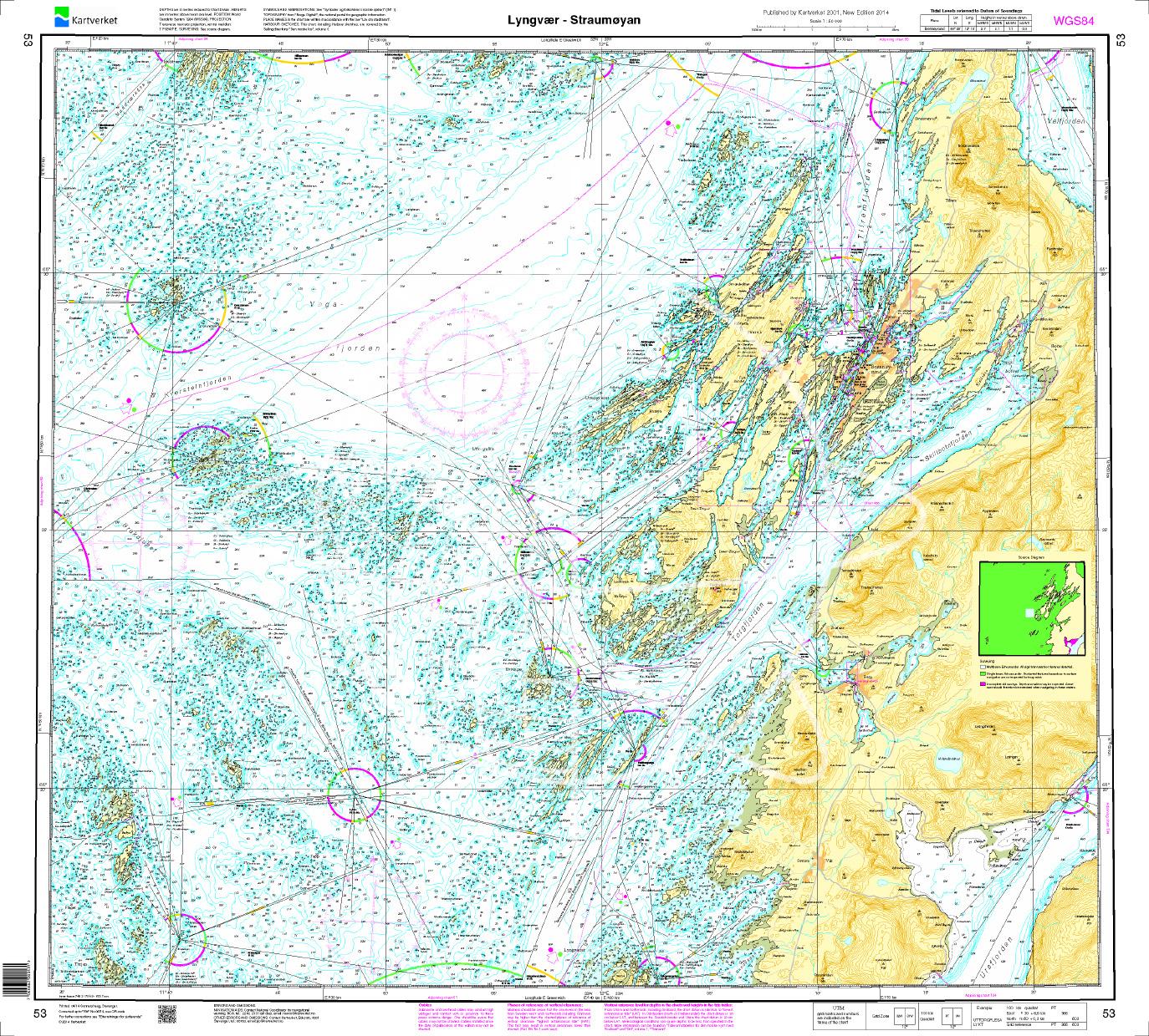 Norwegen N 53  Atlantik von Lyngvær nach Strømøyan