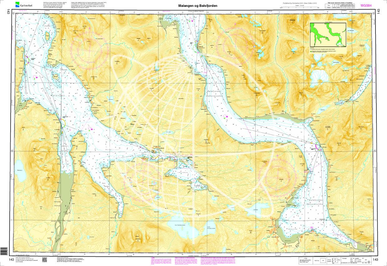 Norwegen N 143 Atlantik Malangen og Balsfjorden