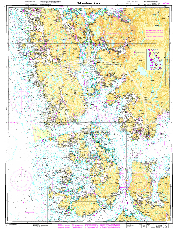 Norwegen N 21 Südwestküste Bergens Fjordwelt Selbjørnsfjorden – Bergen
