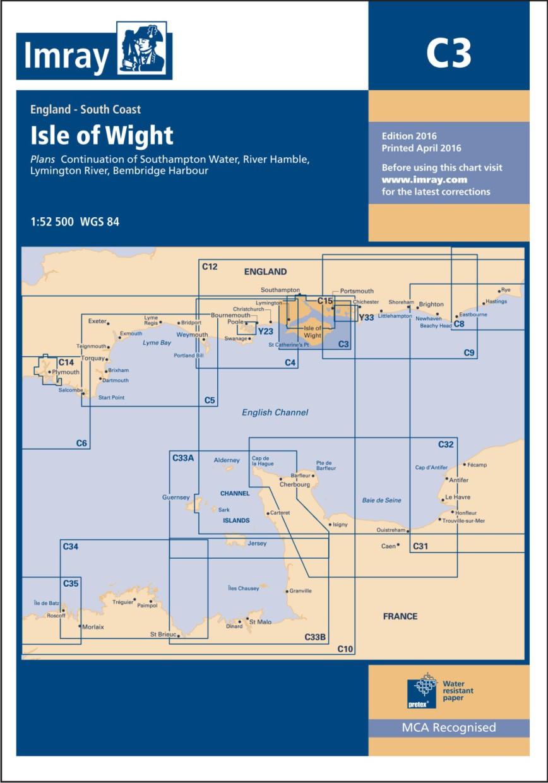 IMRAY CHART C3 Isle of Wight