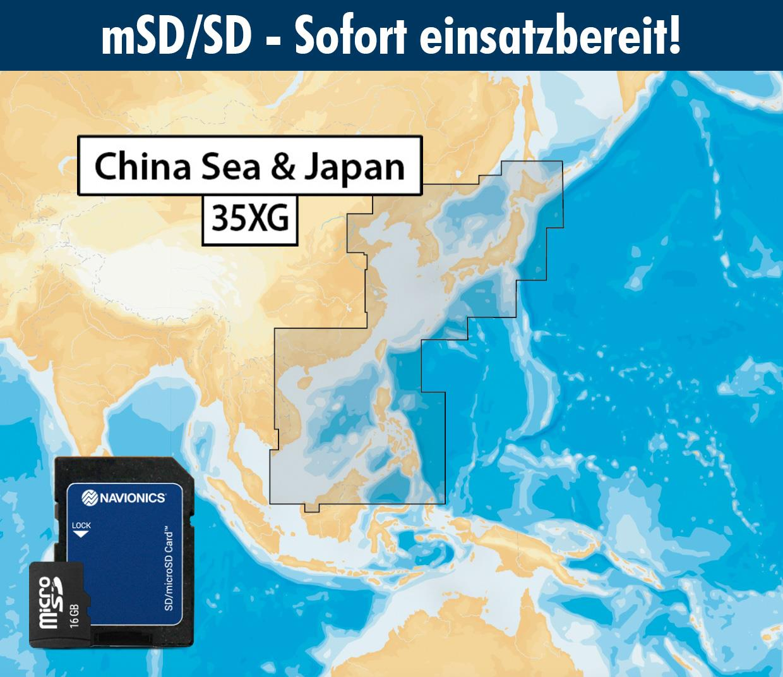 Navionics+ preloaded 35XG mSD CHINA SEA
