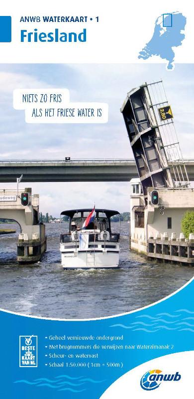 ANWB Waterkaart 1 - Friesland