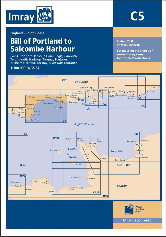 IMRAY CHART C5 Bill of Portland to Salcombe Harbour