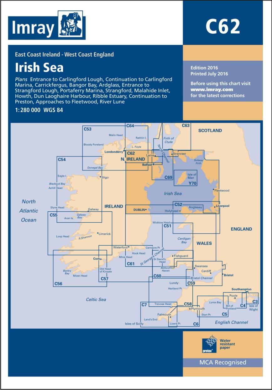 IMRAY CHART C62 Irish Sea