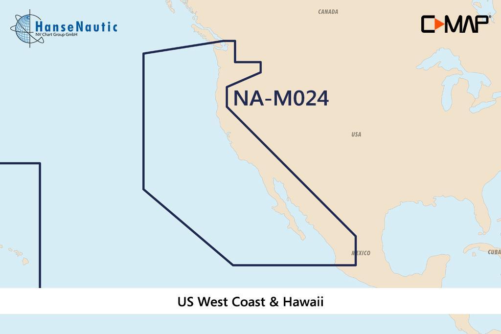 C-MAP MAX Wide NA-M024 USA West Coast & Hawaii