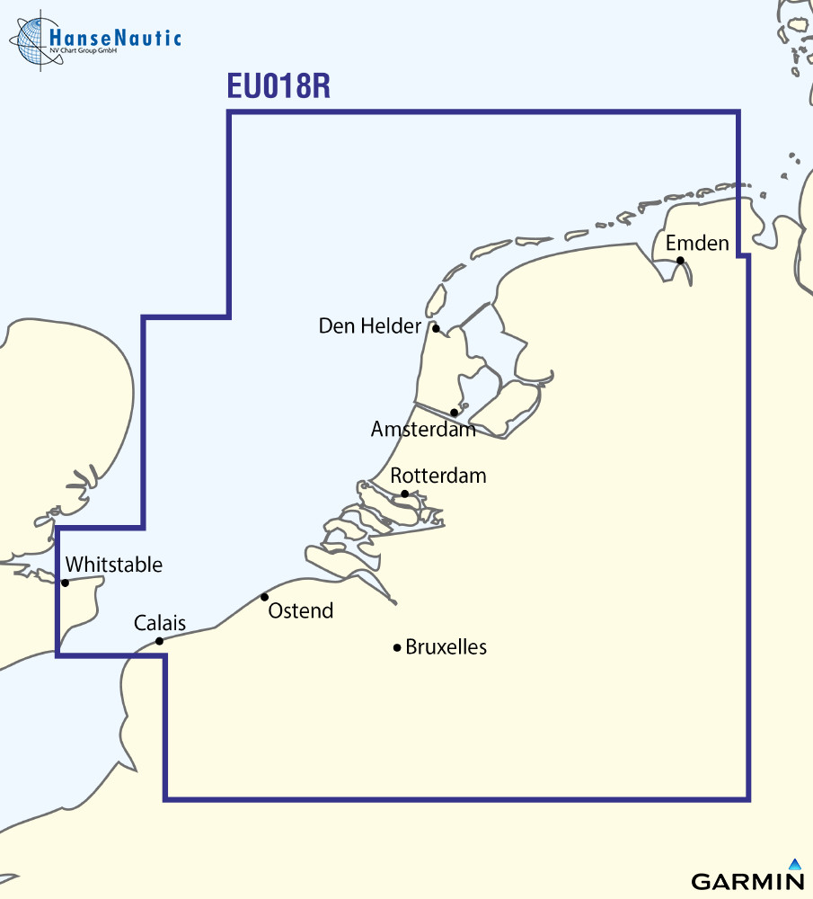 BlueChart Nordsee u. Binnen Niederlande u. Belgien (BeNeLux Offshore & Inland) g3 XEU018R