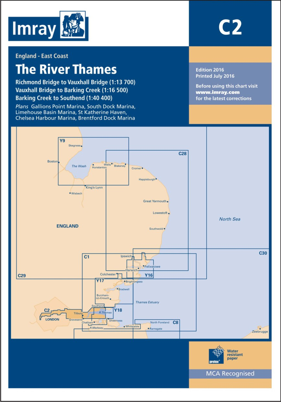 IMRAY CHART C2 The River Thames Teddington to Southend