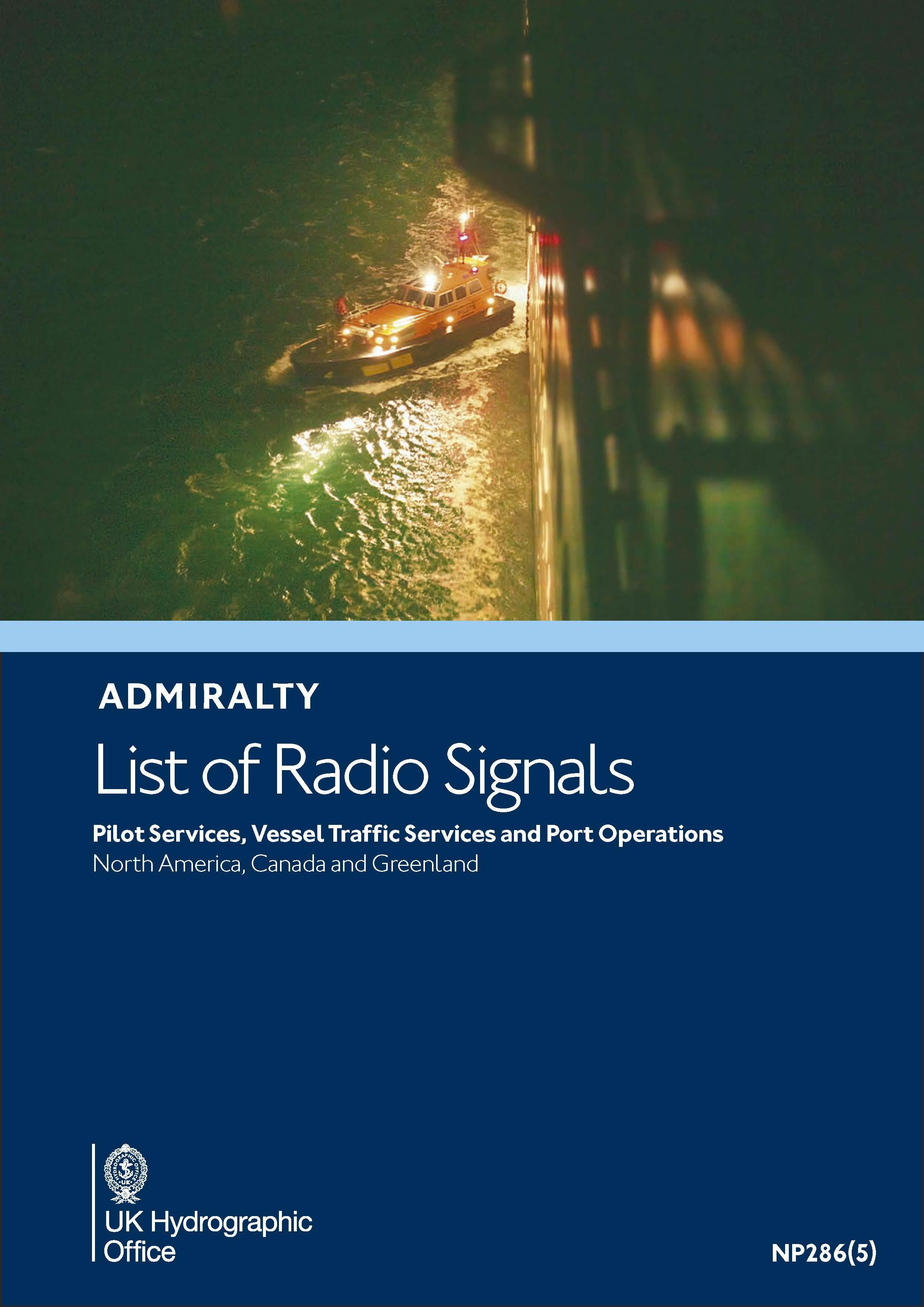 ADMIRALTY NP286(5) RadioSignals Pilot VTS Port - Westcoast NorthAmerica