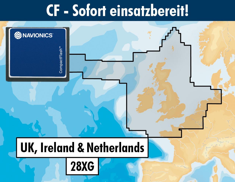 Navionics+ CF 28XG UK Irland & Niederlande