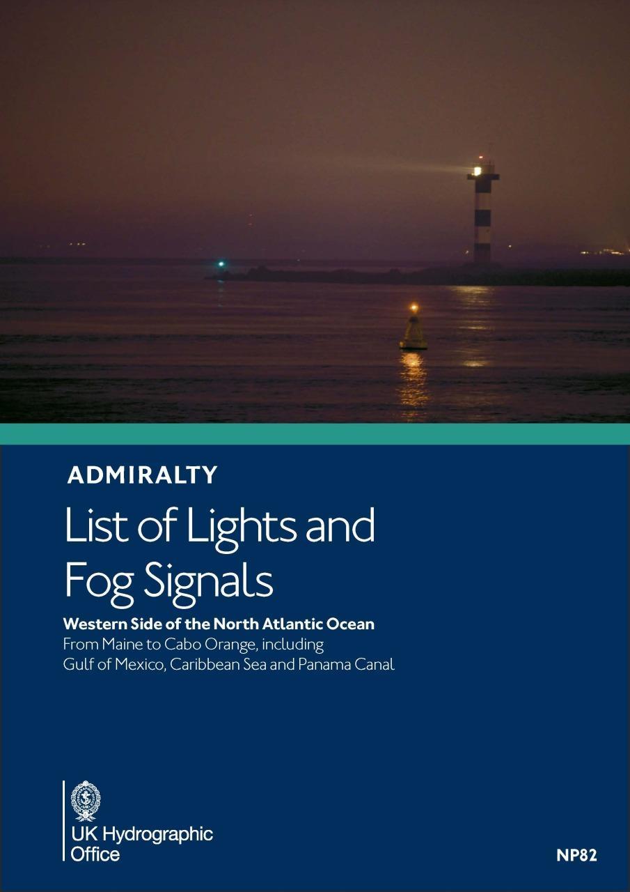 ADMIRALTY NP82 List of light and fog Signals Volume J - W & N Atlantic Ocean