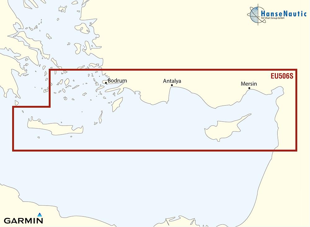 BlueChart Mittelmeer - Kreta-Zypern, südl. Türkei (Crete-Cyprus) g3 Vision VEU506S