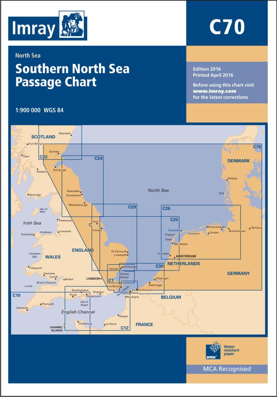 IMRAY CHART C70 Southern North Sea Passage Chart