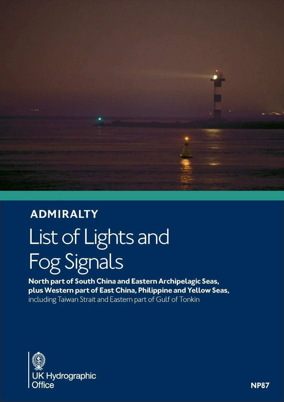 ADMIRALTY NP87 List of Lights and Fog Signals Vol P - South China