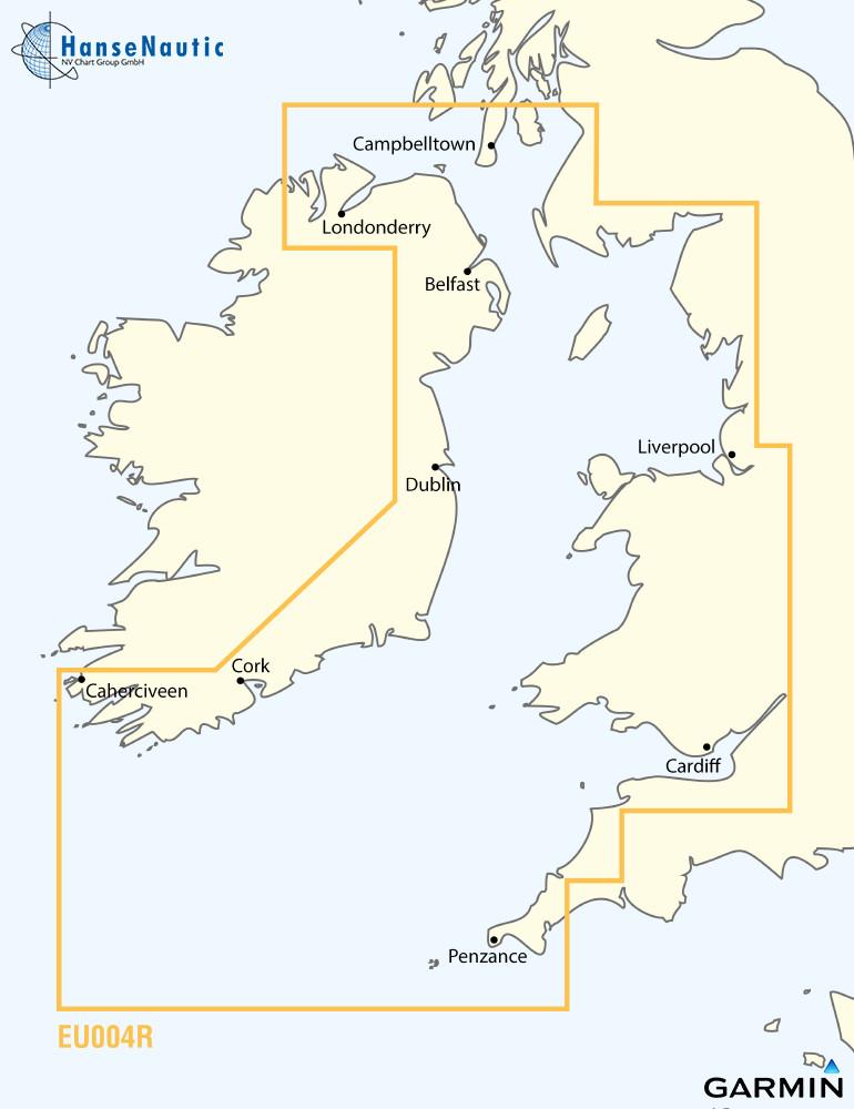 BlueChart Irische See Nordirland bis Cornwall g3 XEU004R