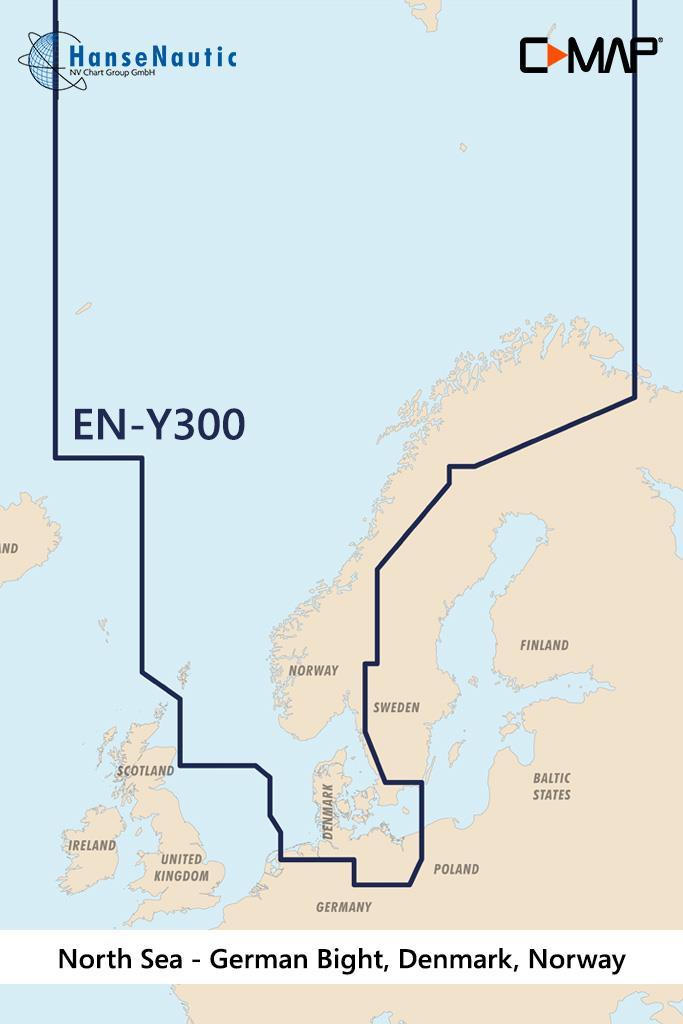 C-MAP Reveal Nordsee u. Dänemark (North Sea Denmark) EN-Y300