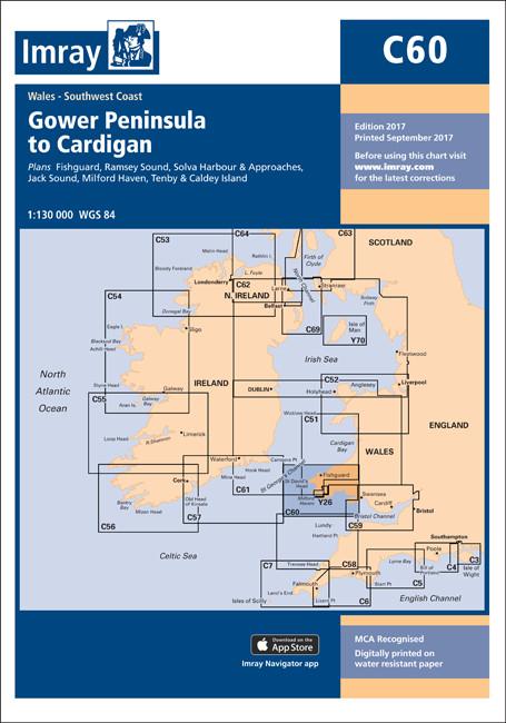 IMRAY CHART C60 Gower Peninsula to Cardigan