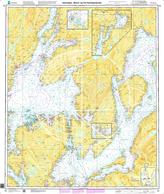 Norwegen N 22 Südwestküste Bergens Fjordwelt Samnangerfjord Bjørnafjord und äußerer Hardangerfjord