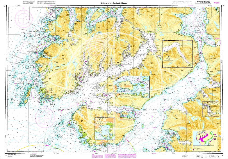 Norwegen N 76 Lofoten Vesterålen mit Stokmarknes - Sortland - Malnes