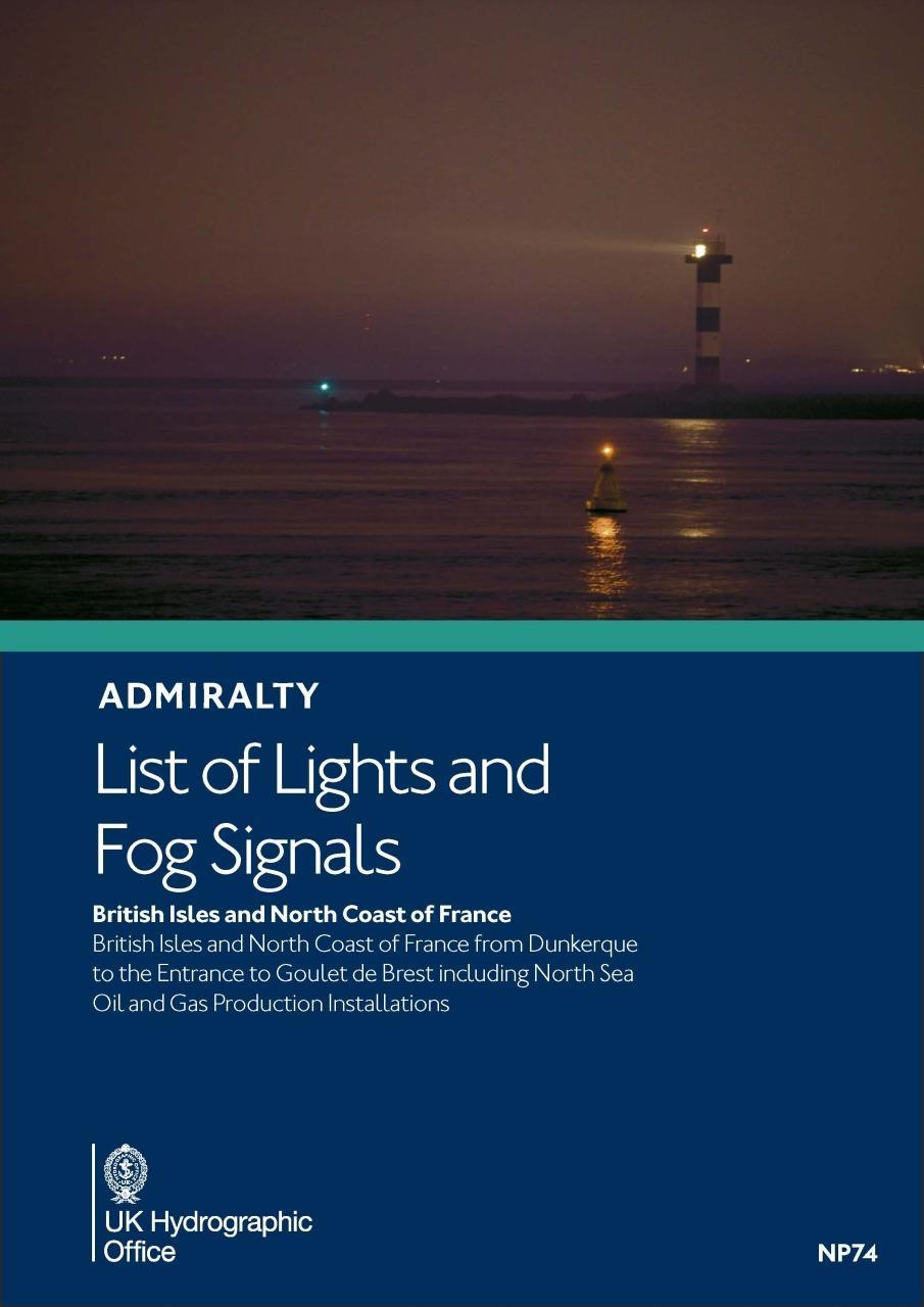 ADMIRALTY NP74 Lights List A - British Isles & N Coast of France