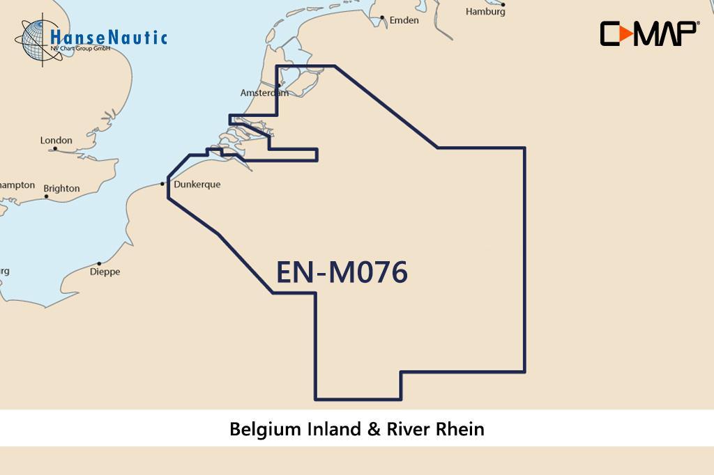 C-MAP MAX Wide EN-M076 Belgium Inland & River Rhein