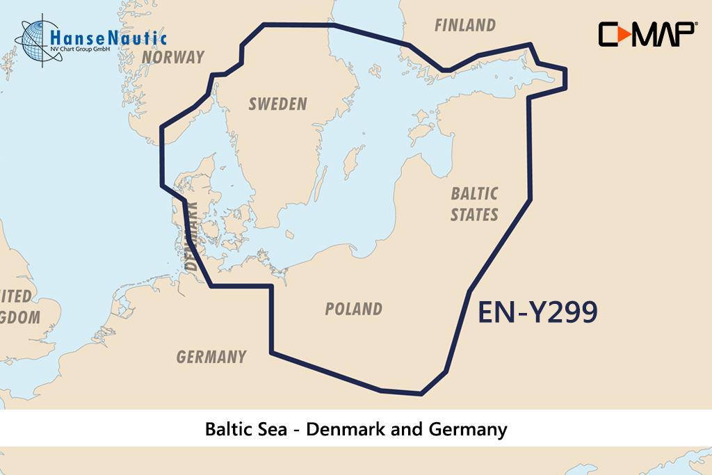 C-MAP Reveal Ostsee & Dänemark (Baltic Sea & Denmark) EN-Y299