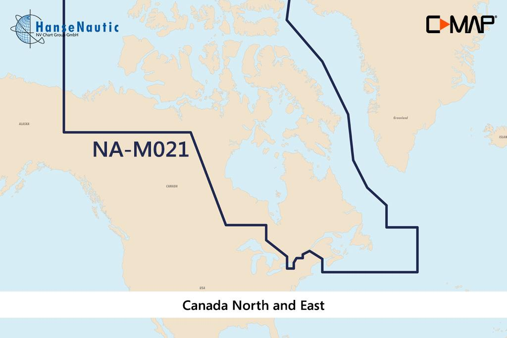 C-MAP MAX Wide NA-M021 Canada North and East