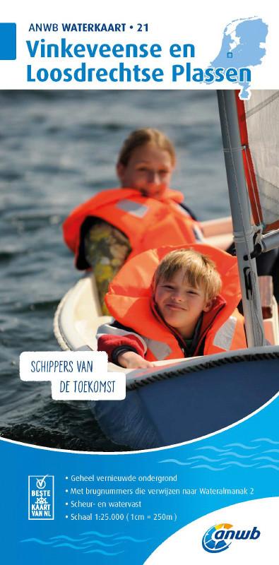 ANWB Waterkaart 21 - Vinkeveense en Loosdrechtse Plassen