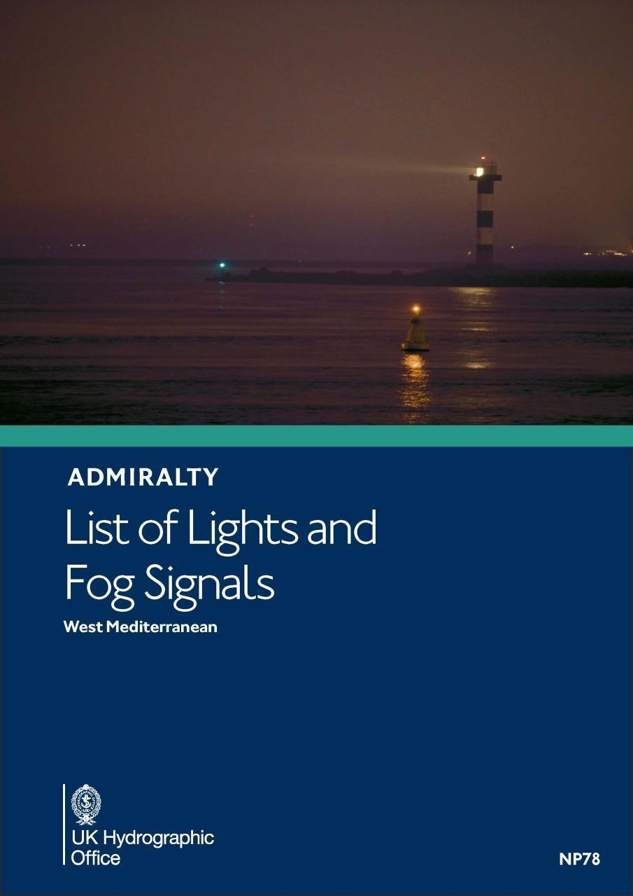 ADMIRALTY NP78 Lights List Vol E - West Mediterranean