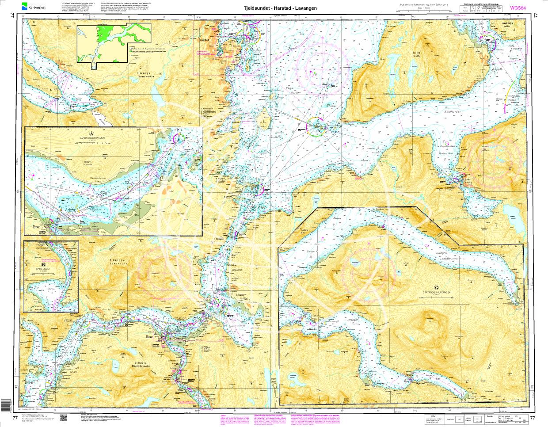 Norwegen N 77 Atlantik Tjeldsundet - Harstad - Lavangen