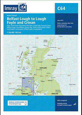 IMRAY CHART C64 North Channel Belfast Lough to Lough Foyle and Crinan