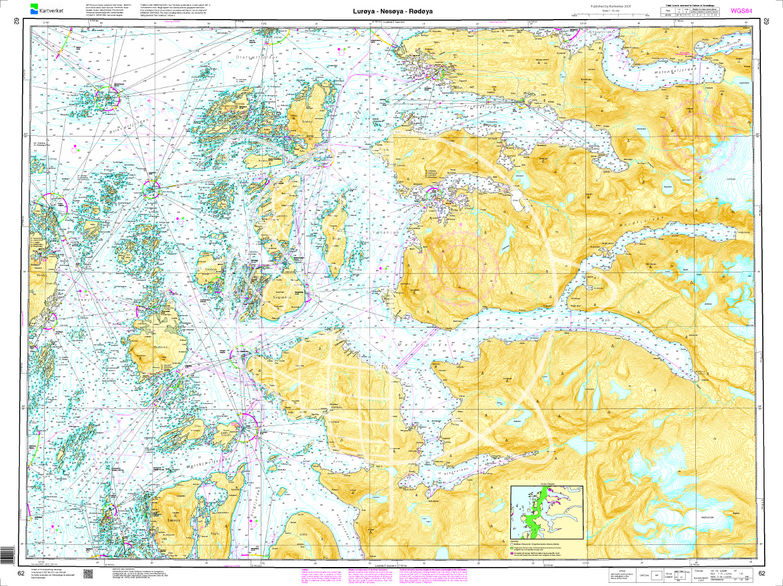 Norwegen N 62 Atlantik Luroeya - Nesoeya - Roedoeya