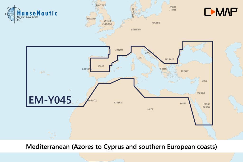 C-MAP Discover Mittelmeer & Süd-Europa (Southern Europe) EM-Y045