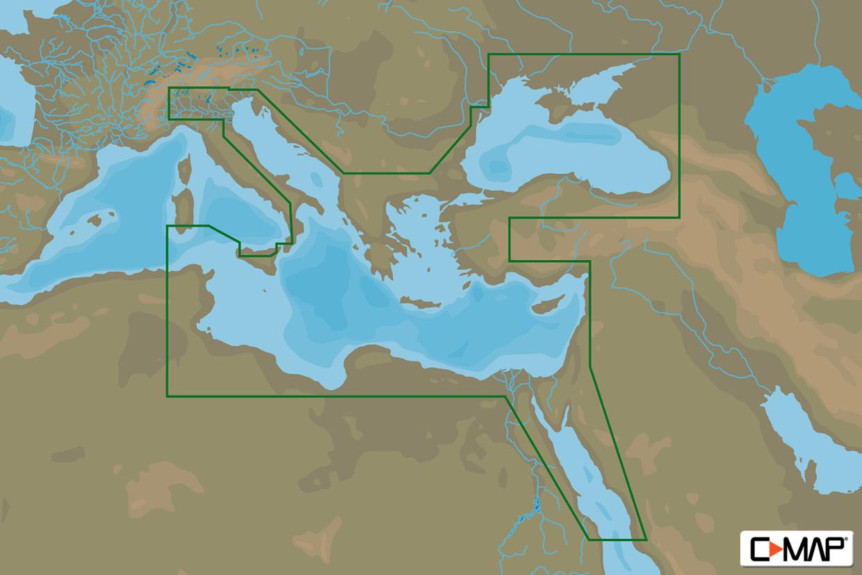 C-MAP MAX Wide EM-M111 East Medit. Black Sea