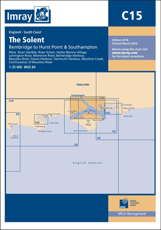 IMRAY CHART C15 The Solent Bembridge to Hurst Point and Southampton