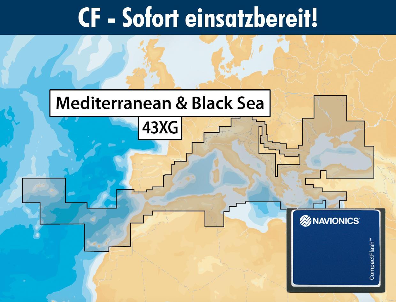 Navionics+ CF 43XG Mittelmeer (Mediterranean & Black Sea)