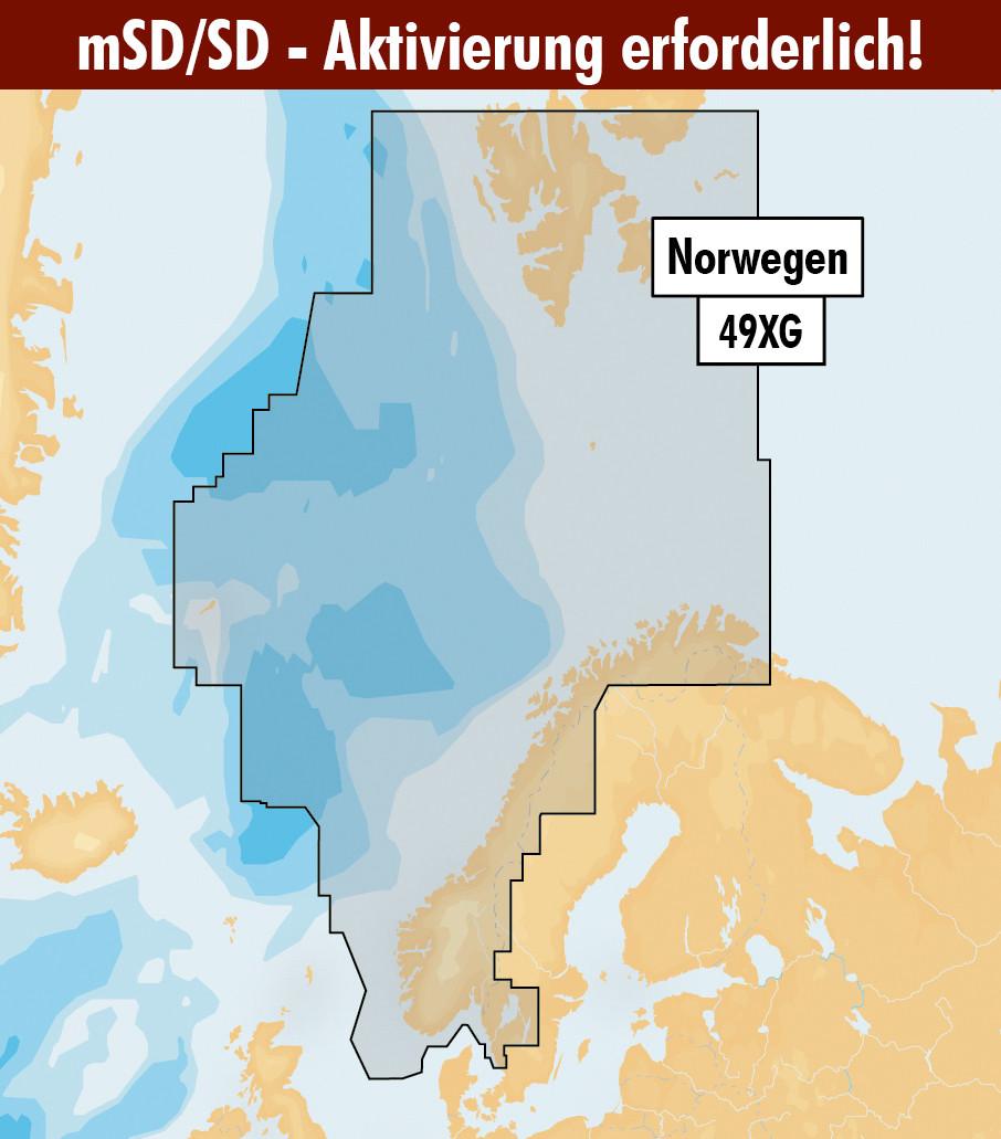 Navionics+ Update 49XG Norwegen (Norge Norway) mSD