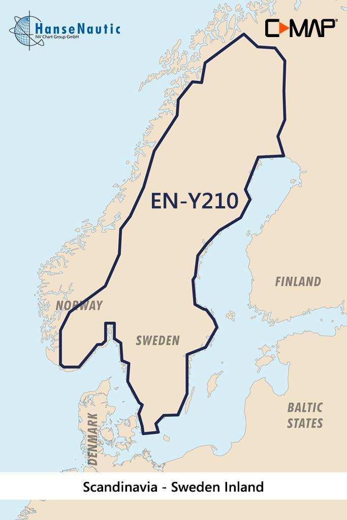C-MAP Discover Skandinavien Schweden Binnengewässer EN-Y210