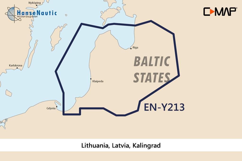 C-MAP Discover Litauen Lettland Kaliningrad EN-Y213